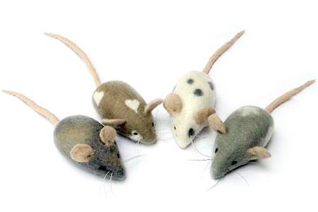Mouse Family Needle Felting Kit-0