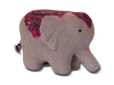 Needle Felting Indian Elephant Kit-0
