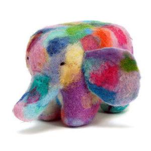 Needle Felting Patchwork Elephant Kit-0