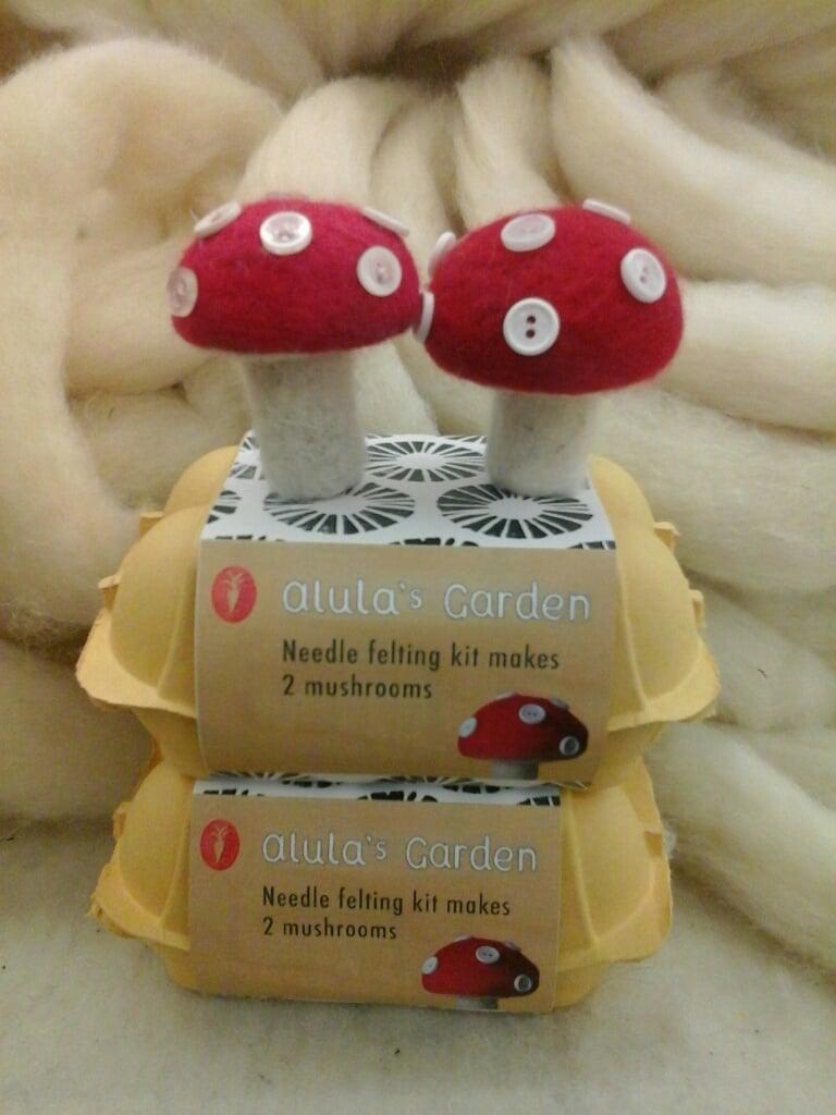 Needle Felting Kit - Mushrooms-0