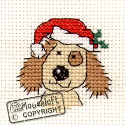 Christmas Cross Stitch Card Kit - Christmassy Dog-0