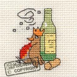 Christmas Cross Stitch Card Kit - Merry Robin-0