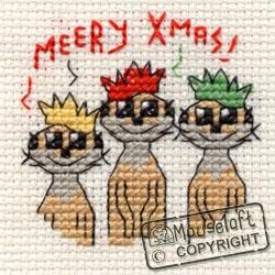 Christmas Cross Stitch Card Kit - Meery Christmas-0
