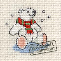 Christmas Cross Stitch Card Kit - Polar Bear-0