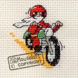 Christmas Cross Stitch Card Kit - Santa's Day Off-0