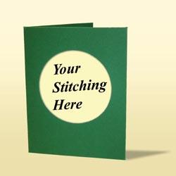 Cross Stitch Card - Deep Green-0