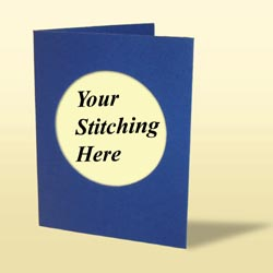 Cross Stitch Card - Dark Blue-0