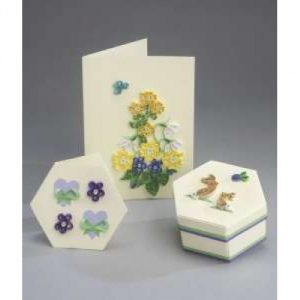 Quilling Card and Gift Box Set: Spring Flowers-0