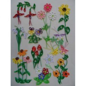 Quilling Designs for Garden Flowers-0