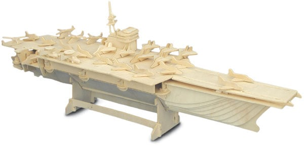 Woodcraft Construction Kit - Aircraft Carrier-0