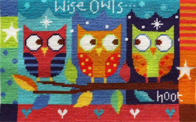 Needlepoint Kit - Wise Owls-0