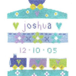 Baby Boy Sampler Cross Stitch Picture Kit-0