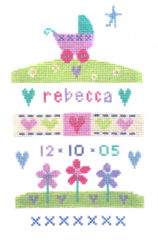 Baby Girl Sampler Cross Stitch Picture Kit-0