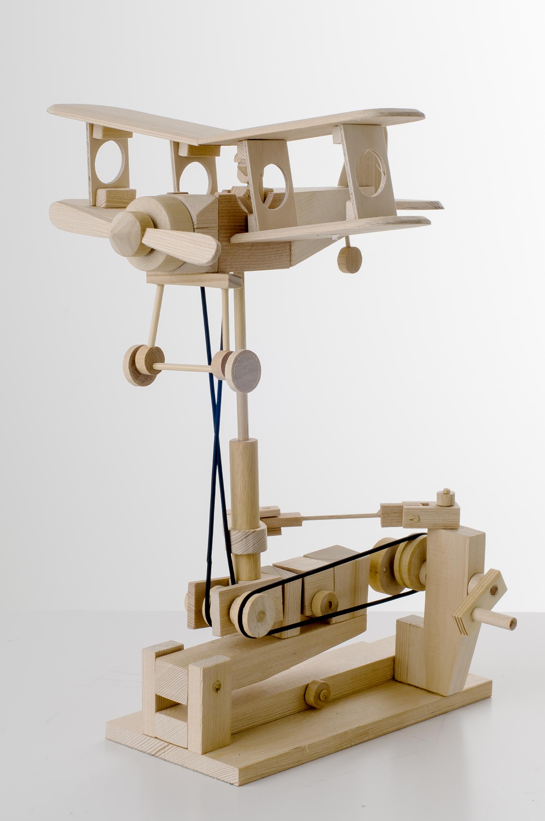 Bi-plane Wooden Automata Kit-0