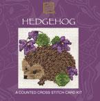 Hedgehog Cross Stitch Card Kit-0