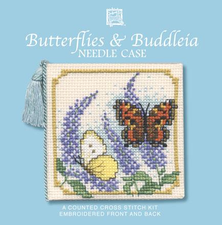 Butterflies & Buddleia Cross Stitch Needlecase Kit-0