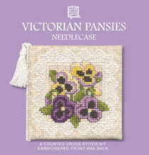 Victorian Pansies Cross Stitch Needlecase Kit-0