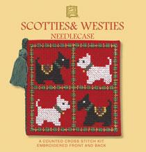 Scotties and Westies Cross Stitch Needlecase Kit-0